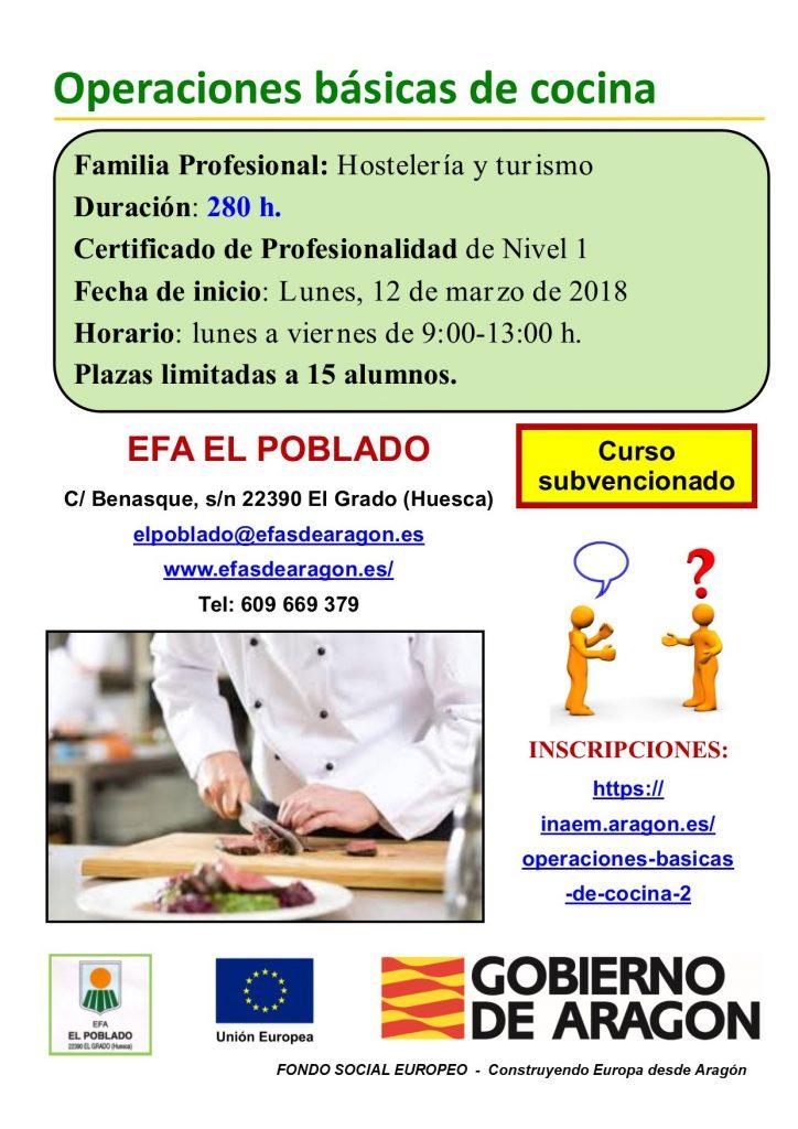 Curso Operaciones Basicas De Cocina Efas De Aragon
